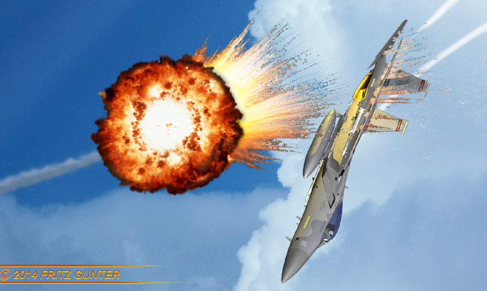 The Legend of Jet 31:F-15C 007 takes a hit! COMING SOON to IamFritz.com!